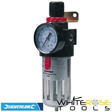 Silverline Aria Filtro Linea Regolatore Compressore Acqua Trap Pressione Tool