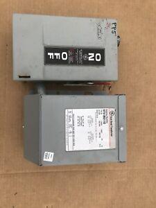 GE Buck Boost Transformer (9T51B0110) 1.00kVA 1PH 120/240V - 12/24V With Switch