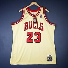 100% Authentic Michael Jordan Mitchell & Ness 95 96 Gold Jersey Size 52 2XL Mens
