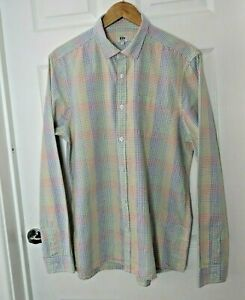 Kin By John Lewis Mens Check Shirt Size Large Multicoloured Long Sleeve