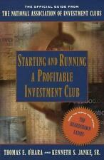 Starting and Running a Profitable Investment Club: The Official Guide-ExLibrary