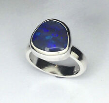 Handmade opal Silver Ring, 2.78 carats Genuine solid Lightning ridge Opal