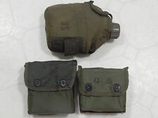 Vintage US Military Individual First Aid Survival Kit Canteen OD Olive Drab Lot
