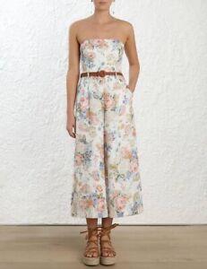 Zimmermann Bowie Strapless Floral Jumpsuit - Size 0
