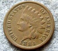 UNITED STATES 1884 CENT INDIAN HEAD, BETTER GRADE