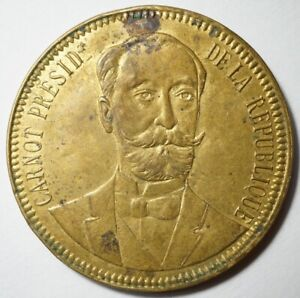 IIIe REPUBLIQUE : RARE MEDAILLE PRESIDENT CARNOT 1894 (38 mm)