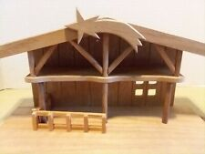 Hummel Wooden Nativity Manger Stable Creche With Bridge Danbury Mint