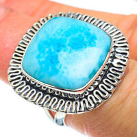 Large Larimar 925 Sterling Silver Ring Size 6.25 Ana Co Jewelry R43466F