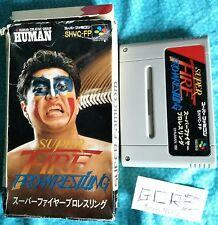 Super Fire Pro wrestling SUPER FAMICOM NINTENDO boxed retrogames old