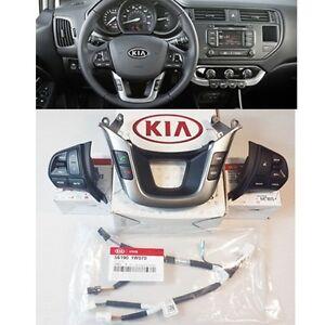 KIA 2012 2013 2014 Rio Rio5 Auto Cruise Control Switch + Audio Remote Switch 4EA