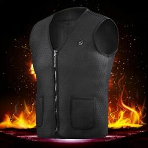 USB Heat Vest Jacket Men Women Fishing Hiking Electric Thermal Clothing Outdoor