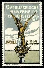 Netherlands Poster Stamp - 1913 Zwolle - Overijssel Industrial Exhibition