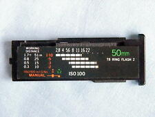 OLYMPUS OM T-8 50mm MACRO CALCULATOR PANEL WITH STICKER FOR T POWER CONTROL