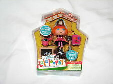 Lalaloopsy Mini Doll Bea Spells-a-Lot Figure MIP #8 Series 1 Owl Book Bell Chalk