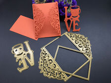 3D Stereo Love Gold Metal Cutting Dies Stencils Scrapbooking Cards Embossing DIY