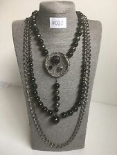 #032 UK Modern Statement Necklace Chunky Costume Jewellery Goth Long Funky Chain