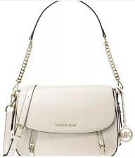 ❤️ Michael Kors Bedford Legacy Leather Flap Light Cream/Gold Shoulder Bag