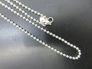 Authentic Tiffany & Co. Ball Chain Necklace Silver 925 Great 97632