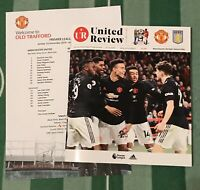 Manchester United v Aston Villa 19/20 Premier League Programme & Team Sheet