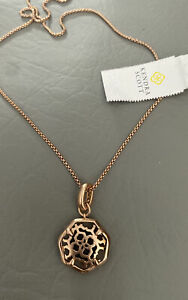 New Kendra Scott Colorbar Filigree Charm & Necklace