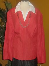 JONES NEW YORK NWT $209 orange 24W orange women's jacket blazer linen silk