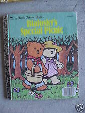 1985 Little Golden Book Bialosky's Special Picnic LOOK