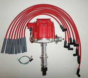 PONTIAC 301,326,350,389,400,421,428,455 RED HEI DISTRIBUTOR & SPARK PLUG WIRES