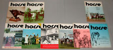 """1972 Lot of 9 Horse Racing """" Canadian Horse """" Issues"""