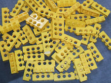 Lego Technic YELLOW Beams with holes - 4 pin / 3 Hole Brick x 15