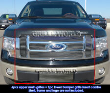 Fits 2009-2012 Ford F150 Lariat/King Ranch Billet Grille Insert Combo