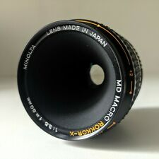 MINOLTA MD Macro Rokkor-X 50 mm 3.5 + macro 1:1 adapter - Mint Condition!
