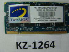 Twinmos m2s9i08d-ps 256mb 200-pins so-dimmpc 2700 ddr1 333mhz #kz-1264