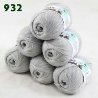 Sale Lot of 6 balls x 50g LACE Soft Acrylic Wool Cashmere hand knitting Yarn 932