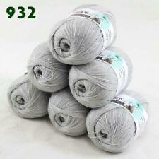 Sale Lot of 6 balls x 50g LACE Soft Acrylic Wool Cashmere hand knitting Yarn 932