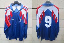 VINTAGE Maillot EQUIPE de FRANCE 1990 ADIDAS shirt PAPIN JPP maglia shirt trikot