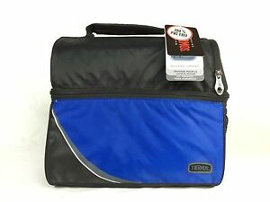 """NWT Thermos Lunch Kit Dual Compartment Insulated Cooler Box 11"""" Food Storage Bag"""