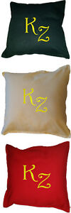 """Personalised embroidered cushion cover 50x50cm (20x20"""") - gift, initials"""