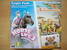 Horse Life 3 / SOS Animaux Mission En Afrique Triple Pack Jeu Vidéo Nintendo DS