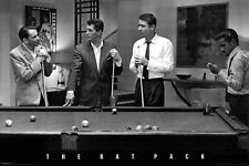 THE RAT PACK SHOOTING POOL POSTER - LARGE SIZE 24 x 36