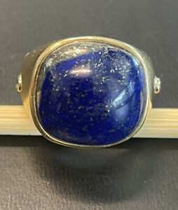 Dark Blue Natural Stones Good vibes only Lapis Lazuli Ring Handmade Blue Ring Band Genuine Gemstones and Gold Flakes 14k in Resin Ring Unique Ring All sizes avaliable
