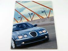 Jaguar S-Type 44-Page Sales Brochure Catalog with Color Chart 2001