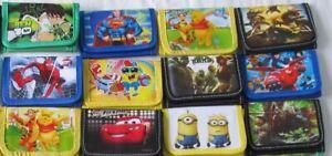 Kids Wallet Various Designs Boys Girls NEW Cartoon Coin Purse