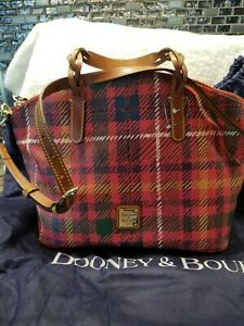 Dooney &  Bourke Tartan Plaid Domed Satchel new with tags  With Dust Bag