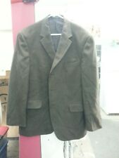 Andrew Fezza Brown 3 Button Sport Coat Jacket Mens 44R