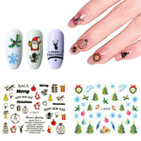 Design Christmas Decal Fingernail Decoration Water Transfer Nail Art Stickers