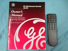 Ge,General Electric Vg-7615 Vcr Remote Control, Manual