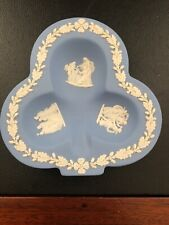 Wedgwood Made In England Fine Porcelain Jewelry Holder Blue White