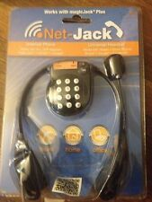 Net-Jack VoIP Cloud Phone Internet Phone Dialer Universal Stereo Headset NEW