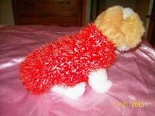 XXS Dog Apparel Tangerine Sparkles FUZZY BUG Sweater