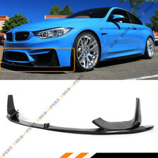 For 15-19 BMW M3 M4 Carbon Fiber 3pcs Front Bumper  Lip Spoiler W/ Splitters Kit
